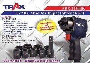 """ARX-1130BK [1/2""""Dr. Mini Air Impact Wrench Kit]"""