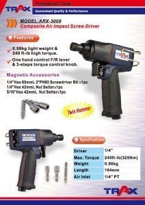 ARX-3009 [Composite Air Impact Screw Driver]