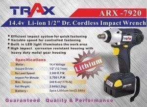 ARX -7920 [14.4v Li-ion 1/2″ Dr. Cordless Impact Wrench]